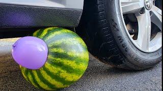 EXPERIMENT: CAR VS WATERMELON - What's Inside a Watermelon ?