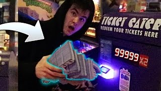 ALMOST KICKED OUT OF ARCADE FOR USING UNLIMITED TICKET HACK!
