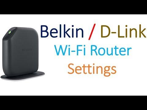 Belkin / D- link  or any wifi router settings  Advanced
