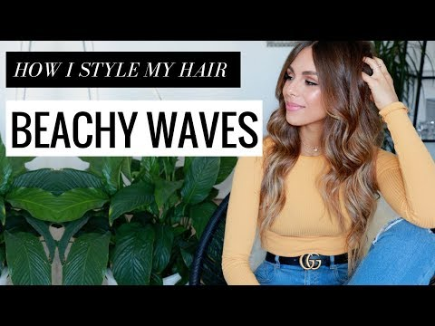 HOW I STYLE MY HAIR IN BEACHY WAVES (Quick & Easy) | Annie Jaffrey