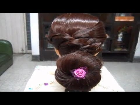 A Beautiful and Gorgeous Bun Hairstyle.