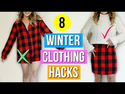 8 Clothing Hacks Every Girl Must Know for Winter!