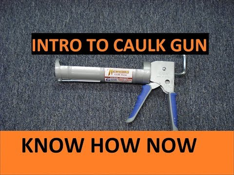 Load and Remove a Tube From a Caulk Gun