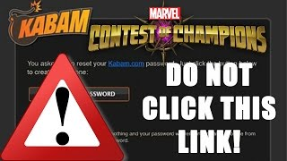 WARNING! PSA! DO NOT CLICK THIS LINK! | Marvel Contest of Champions