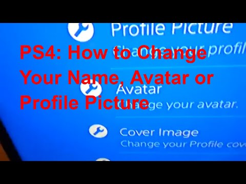 PS4: How to change your name, avatar, or profile picture