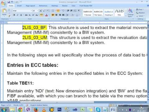 SAP BI  inventory mgmt theory