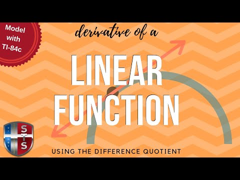 Calculus - Difference Quotient - Linear Equation