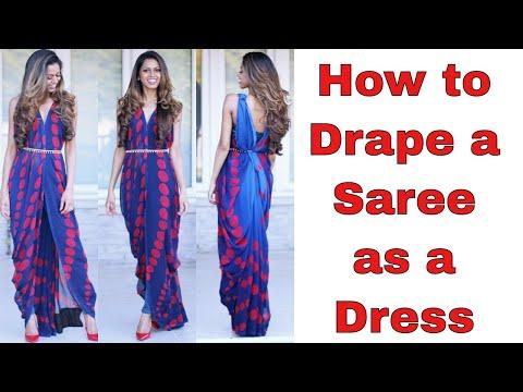 How to Drape a Saree as a Dress | Tia Bhuva