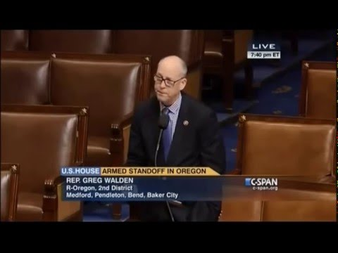 Greg Walden addresses U.S. House on situation in Harney County, OR, federal overreach in the West