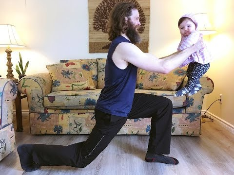 10 Min. Leg Workout with Baby