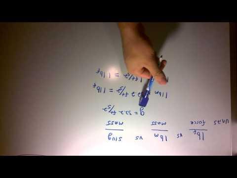 Pound-force (lbf) vs Pound-mass (lbm) vs Slugs