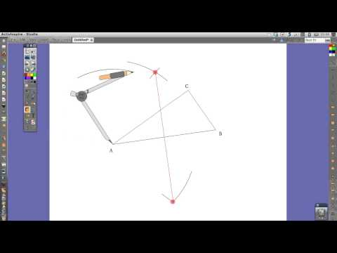 How to draw the circumcircle of a given triangle