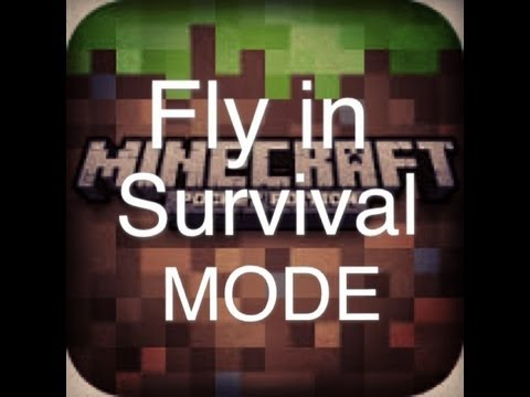 How to fly in survival mode on minecraft pocket edition in iOS  ( iPhone, iPod touch, iPad )