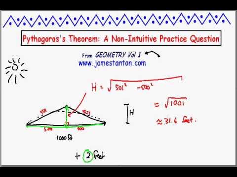 An Unintuitive Pythagorean Surprise! (Tanton Mathematics)