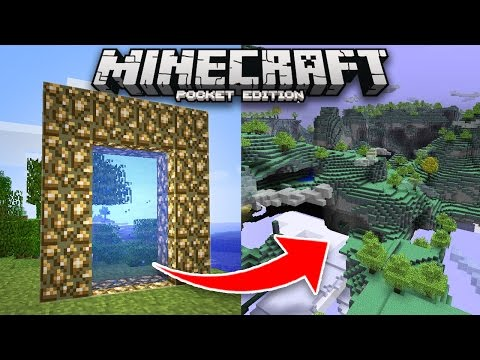 How to go to the AETHER DIMENSION in Minecraft PE!! (Addon)