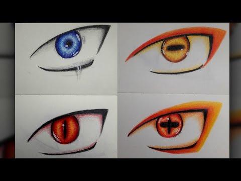 Drawing Naruto's Eyes (Naruto Shippuden)