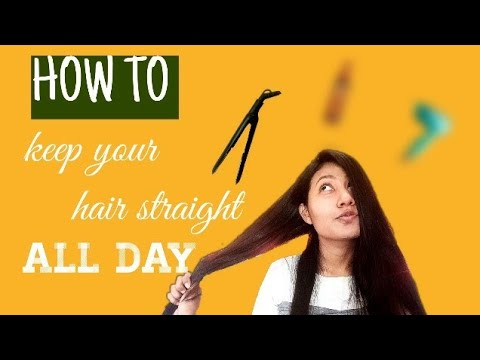 HOW TO KEEP YOUR HAIR STRAIGHT ALL DAY USING ONLY THREE PRODUCTS|FASHUP