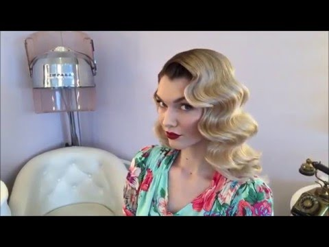 Classic Old Hollywood Waves Hair @ The Vintage Beauty Parlour, Manchester