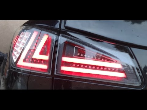 2006+ LEXUS IS250 IS350 CUSTOM TAIL LIGHTS LED BARS EBAY ISx