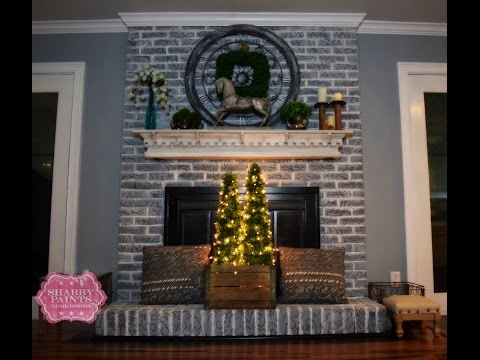 Aging brick for a warm farmhouse look.