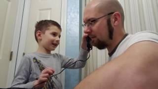Lukes shaves dad Dec 2016
