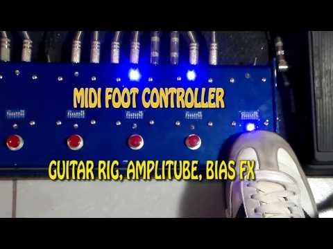 Midi Foot Controller Bias FX Guitar Rig Amplitube