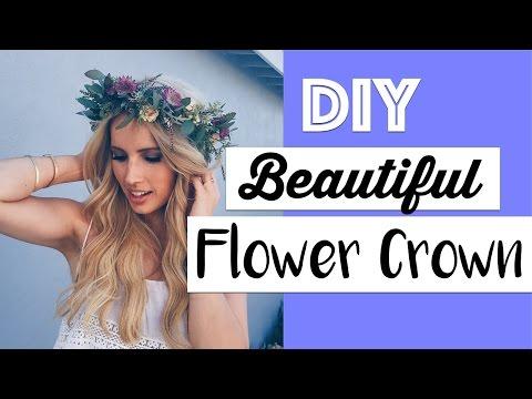 Gorgeous Flower Crown DIY