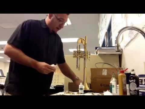 How To Clean Your Trumpet - Assembling the main tuning and 2nd valve slide