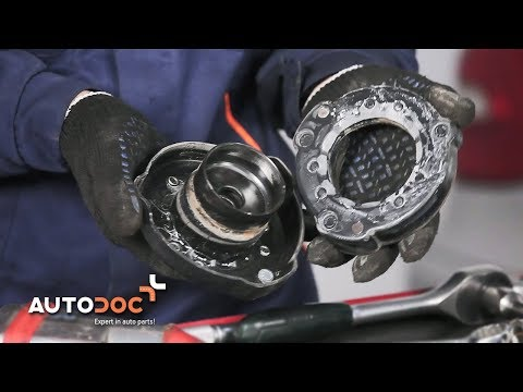 How to replace strut mount MERCEDES-BENZ E W211 TUTORIAL | AUTODOC