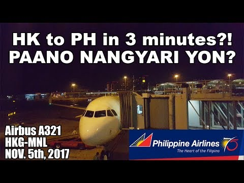 Hong Kong to Manila in 3 Minutes! Philippine Airlines A321 Flight Review