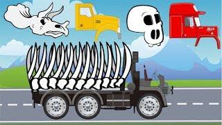 Trucks Street Vehicles | Excavators, Dump Truck, Tow Truck, Garbage Truck | Video For Kids
