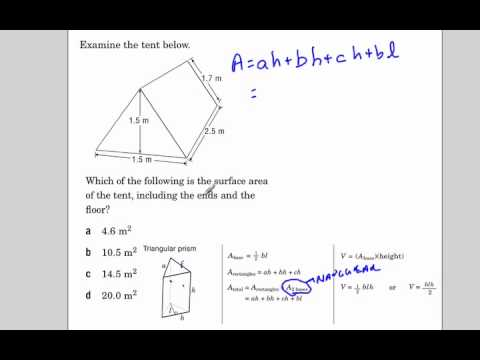 Surface area of a triangular prism EQAO
