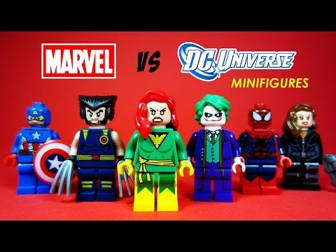 LEGO Marvel vs DC Superheroes Knock Off Minifigures Set 5 (Bootleg) Phoenix Wolverine Joker