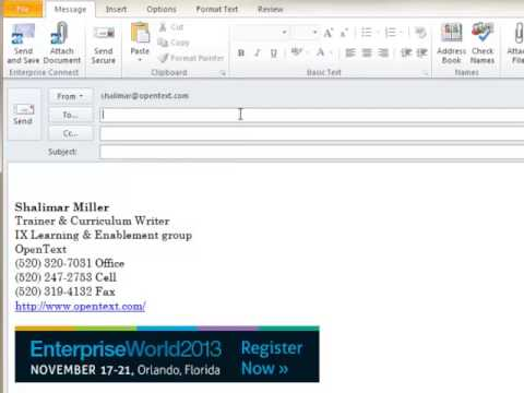 Secure Mail Demo   Sending Mail via Outlook