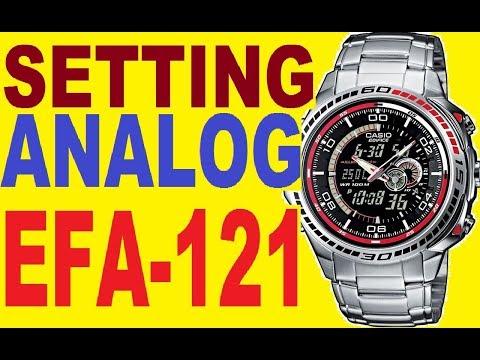 Casio Edifice EFA-121D manual 4334 to set analog time