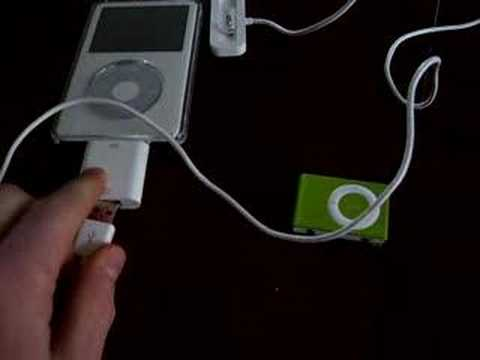 Charge an iPod with another iPod (actually works!!!)