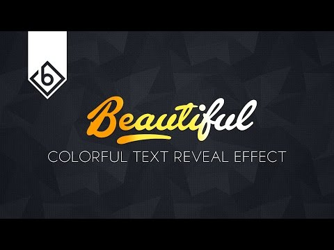 How To Create Colorful Text Reveal Effect - Sony Vegas Tutorial