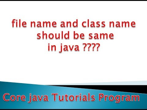 File Name and class Name should be same in java..??? Run java program in command prompt(console)