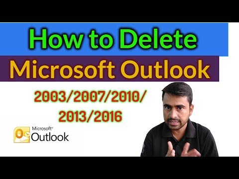 How to Delete Outlook Account 2016  [ in हिंदी Tutorial ]