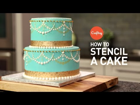 Tips for How to Stencil a Cake  | Buttercream + Fondant Cake Decorating Tutorial