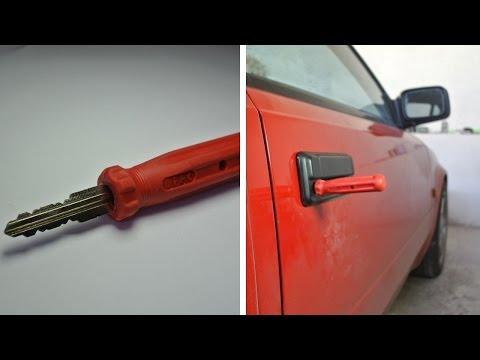 DIY screwdriver key - stolen car look