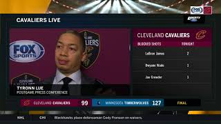 Tyronn Lue believes offense dictated defense in Cleveland