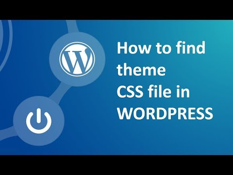 How to find out Theme css in wordpress website