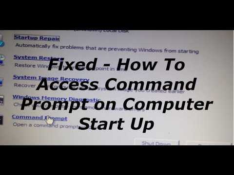 FIXED - Access Command Prompt (cmd) on Computer Start Up