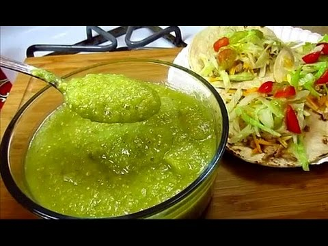 Mexican Salsa Verde - Roasted Tomatillo Salsa