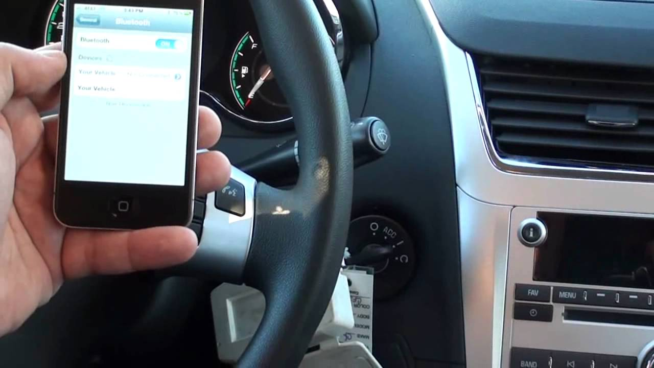 How to pair bluetooth on 2012 Chevy Malibu - Phillips Chevy