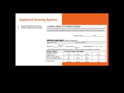 Use an application scoring sheet to determine whether or not to approve tenants