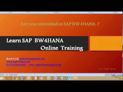 SAP BW4HANA training videos