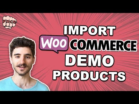Woocommerce Demo Products - CSV File Import (with images)