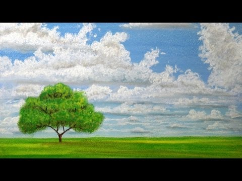 How to draw clouds with pastels